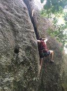 Rock Climbing Photo: running up the classic!
