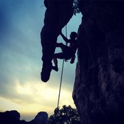 Rock Climbing Photo: Rappelling off of Ramazon