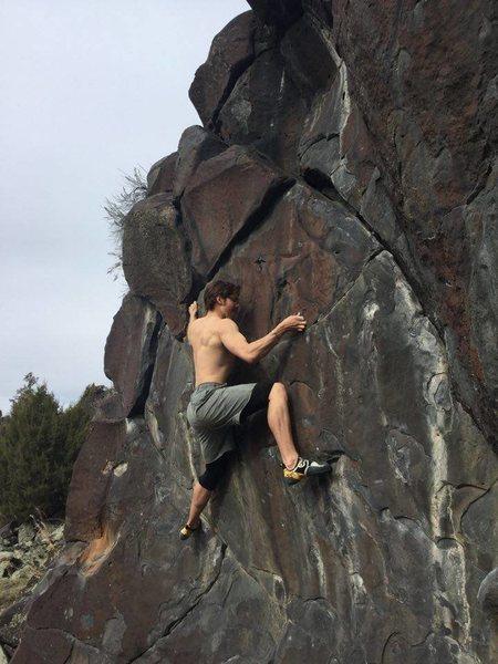 Rock Climbing Photo: Dakotah on Chicken Of The Sea V1