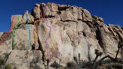 Rock Climbing Photo: The left-center portion of the southwest face of J...