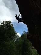 Rock Climbing Photo: Guess I'll go with the silhouette climber theme, t...