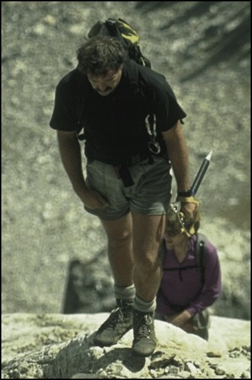 Arthur climbing in Teton Range of Wyoming