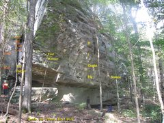 Rock Climbing Photo: The Battle Axe Tower, L to R: The Off Width Exam W...