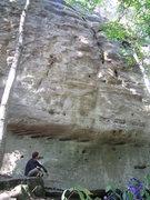 Rock Climbing Photo: Maciek felt again his creation