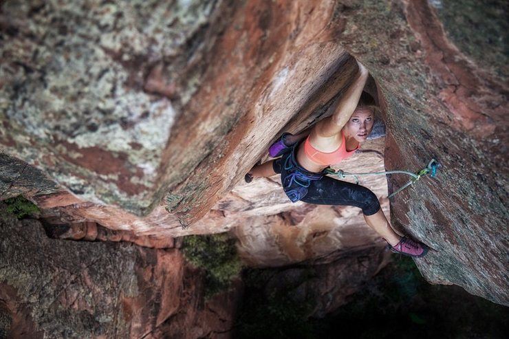 Rock Climbing Photo: photo by Andy Mann for the cover of the 2015 Octob...