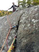 Rock Climbing Photo: Here is a flare where only tricams were super secu...