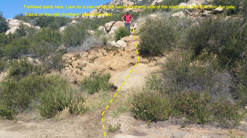 Rock Climbing Photo: Start of the trailhead from the road. It's VERY ea...