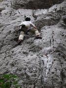 Rock Climbing Photo: JB on the FA of Mach 5