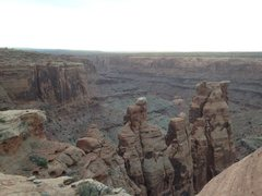 Rock Climbing Photo: The towers from the point where you first drop dow...
