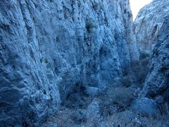 Rock Climbing Photo: Looking down the Upper Canyon...