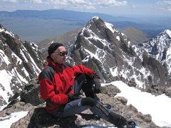 Rock Climbing Photo: Me and Crestone Needle from Crestone Peak.  Photo:...