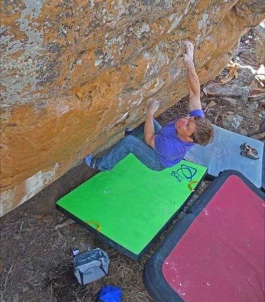 Rock Climbing Photo: Luke Kretchmar on Ninja Buffalo V5