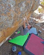 Rock Climbing Photo: Heath Lille crushing some slopers on Ninja Buffalo...