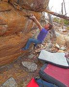 "Rock Climbing Photo: No eyes Luke sticking a ""must be painful&quot..."