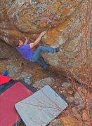 Rock Climbing Photo: Different angle of the problem Buffalo Sloper good...