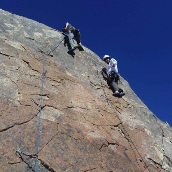 Rock Climbing Photo: Myself on Red Hulk and Josh on Iron Man