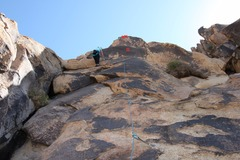 Rock Climbing Photo: Climber to the left of bolt line. there is a nice ...
