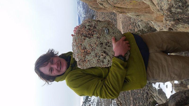 Found this chunk of rock with a bolt in it walking around hartman rocks, gunnison CO. Musta broken off