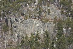 Rock Climbing Photo: The Typhoon Wall. Tsunami Slap-Up is the prominent...