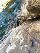 Rock Climbing Photo: Second pitch of three pitches of Machete 5.10