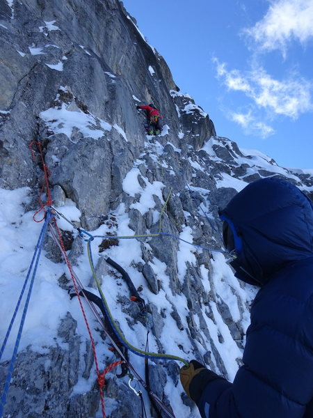 pitch before the third snow ledge