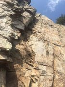Rock Climbing Photo: Playground from the bottom.  Gastonia Crack on lef...