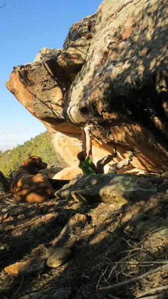 Rock Climbing Photo: Start beta of Sim Sala Bim.