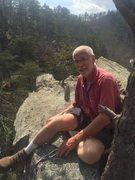 "Rock Climbing Photo: Setting TR for ""The Bear"" (5.7)"