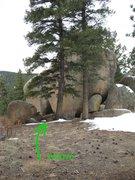 Rock Climbing Photo: Area B Scenic and Alcove entrance.