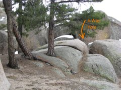 Rock Climbing Photo: Area C scenic with flat above hole.