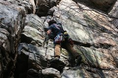 Rock Climbing Photo: start right of the crack and reverse into it  run ...