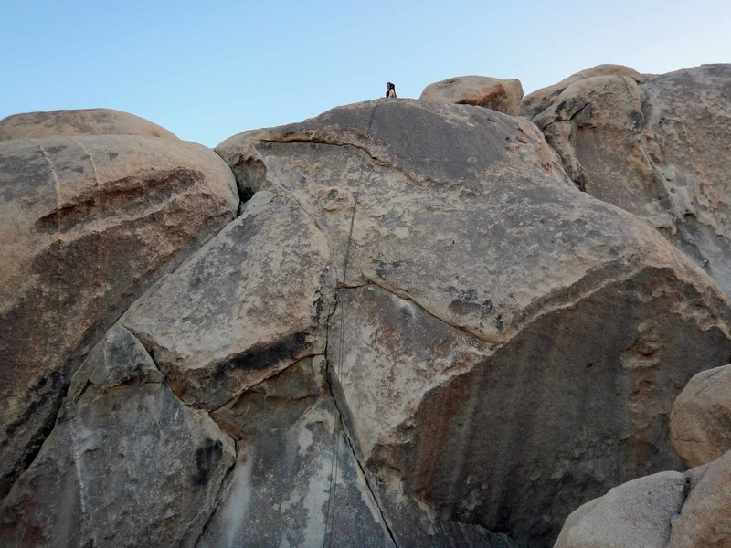 Rock Climbing Photo: Brenda preparing to rappel from anchors near the t...