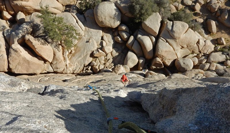 Brenda jams Sail Away on the Hidden Tower at Joshua Tree, March 2016
