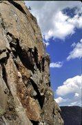 "Rock Climbing Photo: The late Jeff Schoen leading ""Scratch 'n Snif..."