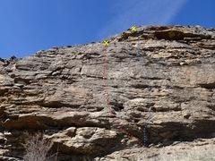 Rock Climbing Photo: Upper face topo