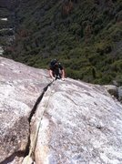 Rock Climbing Photo: P1 crack