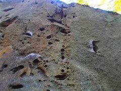 "Rock Climbing Photo: A closer look at the holds for ""Staircase to ..."