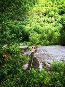Rock Climbing Photo: Wet!