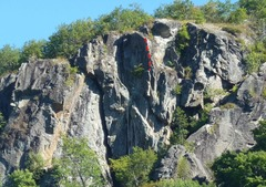Rock Climbing Photo: It kind of looked like there were bolts on the rid...