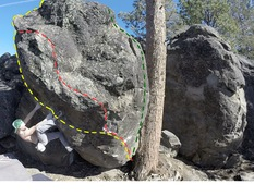 Rock Climbing Photo: heel-hook before matching hands on the gas-stone j...