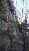 Rock Climbing Photo: Coming to Wrestling Wall from Practice Wall (walki...
