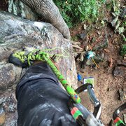 Rock Climbing Photo: From the top of Grey Matter at Foster Falls