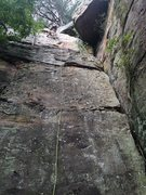 Rock Climbing Photo: Will cleaning Walk By Me 5.7
