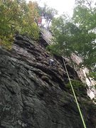 Rock Climbing Photo: Following and cleaning Saturated 5.8 at Foster Fal...