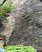 Rock Climbing Photo: Starting holds of Anubis 5.7 at Leda
