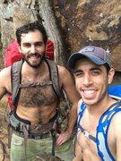 Rock Climbing Photo: Hiking through the rain