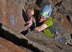 "Rock Climbing Photo: Climbing up ""Blood Clot"""