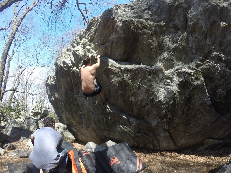 Rock Climbing Photo: Hope this helps you find it. Work that crack son!