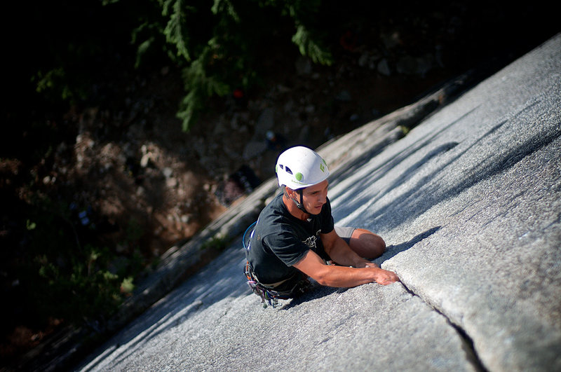Danny Israel on Arrowroot, Squamish, BC, 5.10b