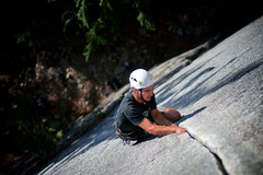 Rock Climbing Photo: Danny Israel on Arrowroot, Squamish, BC, 5.10b